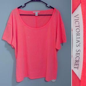Victoria's Secret soft neon scoop-neck tee